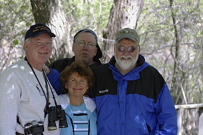 Long-time birding friends Tom and Carolyn of Canton.
